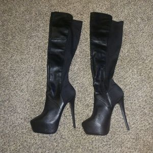 Steve Madden over the knee platform boot